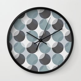 Circle pattern (Cold Theme) Wall Clock