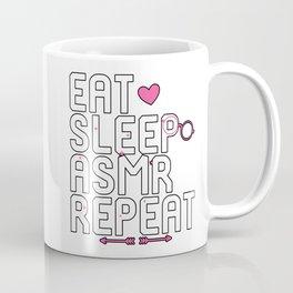 Eat Sleep ASMR Repeat Brain Tingles Coffee Mug