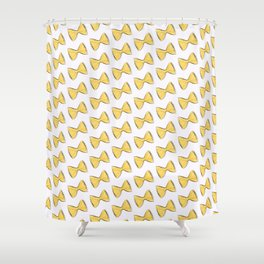 Pasta bow Shower Curtain