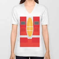 transformers V-neck T-shirts featuring Starscream Transformers Minimalist by Jamesy