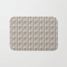 Simple Geometric Pattern 2 in Taupe Bath Mat