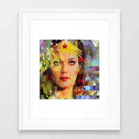 wonder Framed Art Prints featuring Wonder by Joe Ganech