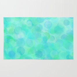 Aqua Lime Beach Glass Dots Rug