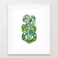 tiki Framed Art Prints featuring TIKI  by Jun Arita