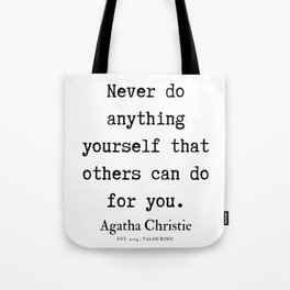 9   | Agatha Christie Quotes | 190821 Tote Bag