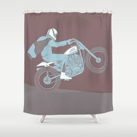 grease Shower Curtains featuring hard by The Junkers