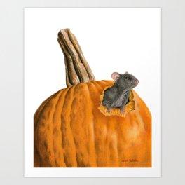 The Pumpkin Carver Art Print