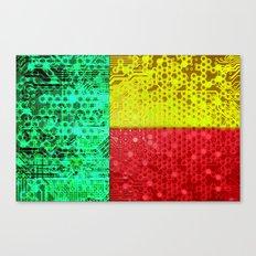circuit board benin (flag) Canvas Print