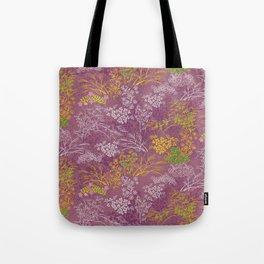 Japanese pattern floral purple Tote Bag