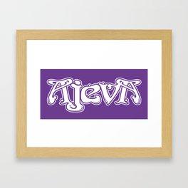 Ajeva Logo 2 Purple Framed Art Print