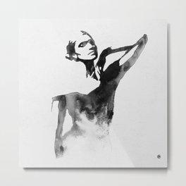Figurine (Ink Painting) Metal Print