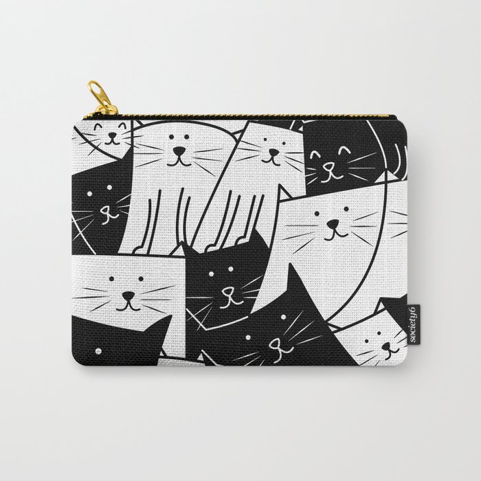 The Cats are Watching - B/W Carry-All Pouch