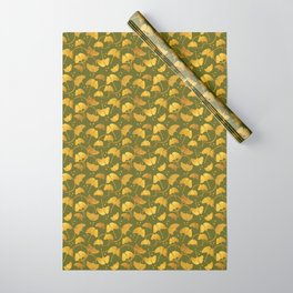 Ginkgo Gold_Olive Wrapping Paper