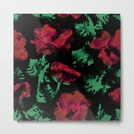 Abstract pattern . Red poppies. Metal Print