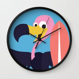 Vulture Surfing Wall Clock