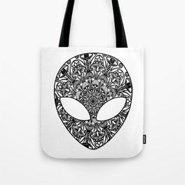 Alien Mushroom Mandala Tote Bag