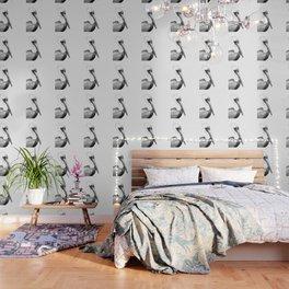 Black and White Pelican Wallpaper