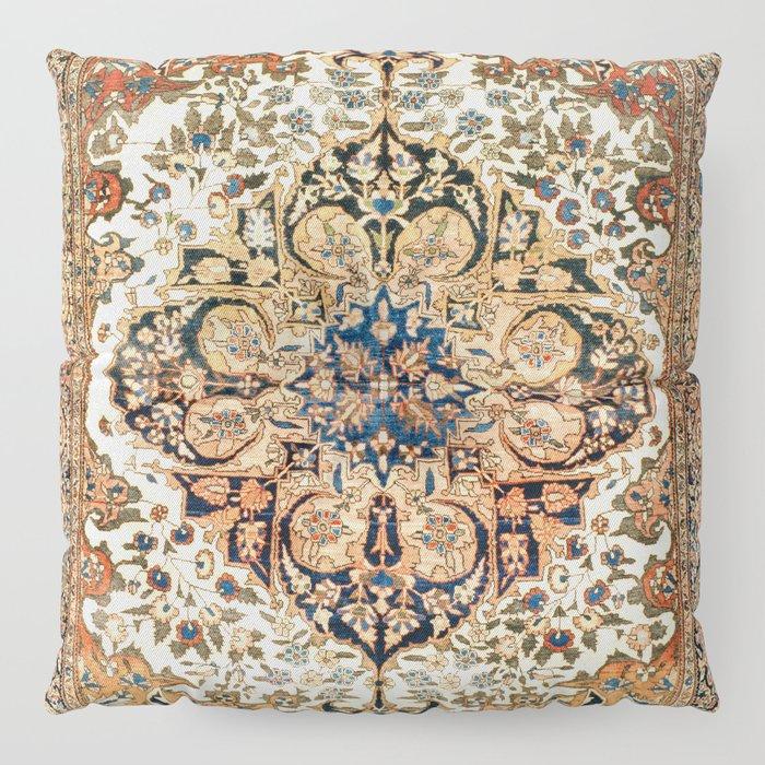 Ferahan Arak  Antique West Persian Rug Print Floor Pillow