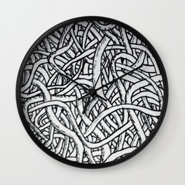 Noodles or Worms Wall Clock