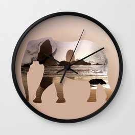 Zen elephant Wall Clock