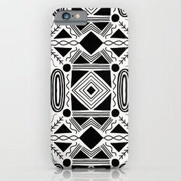 high desert, black & white, repeat iPhone Case