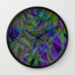 Colorful Abstract Stained Glass G301 Wall Clock