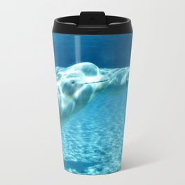 Ocean Blue Beluga Pairs Version 1 Travel Mug