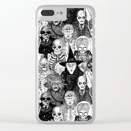 Horror Film Monsters Clear iPhone Case