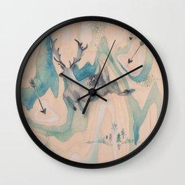Deer Chase Wall Clock