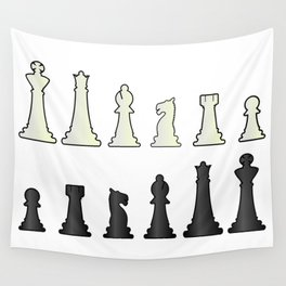 Chess Pieces Wall Tapestry