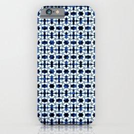 Kumo Shibori Dark Blue Modern Japanese Inspired Geometric iPhone Case