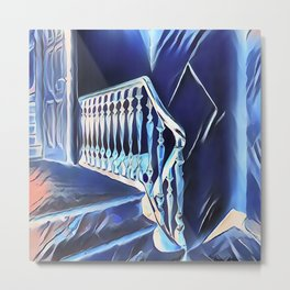 Eerie Paranormal Staircase Metal Print