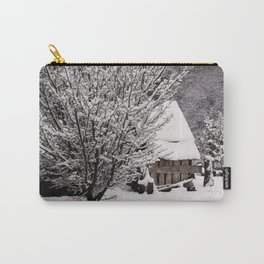 OLD SHED IN SNOW Carry-All Pouch