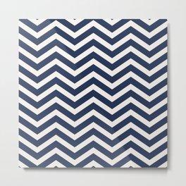 Nautical chevron pattern Metal Print