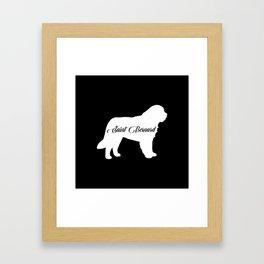 Saint Bernard Framed Art Print