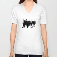 reservoir dogs V-neck T-shirts featuring Reservoir Dogs by Jason Vaughan
