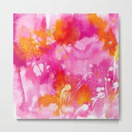Pink Abstract Metal Print