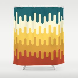 paint pattern Shower Curtain