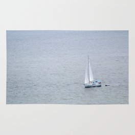 Lonely Sailboat Rug