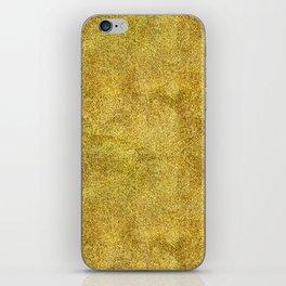 Antique Gold Glitter iPhone Skin