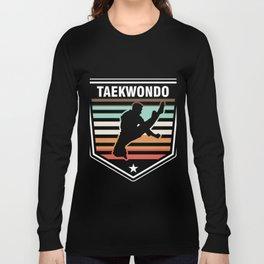 Taekwondo Vintage Retro Martial Artists Judo Karate Fighters Gift Long Sleeve T-shirt