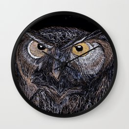 Night watcher Wall Clock