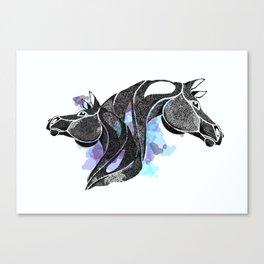 dot of horse Canvas Print