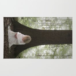 Waiting in the woods Rug