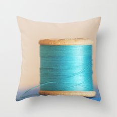 c is for cyan Throw Pillow