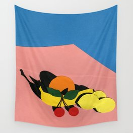Fruits On The Table Wall Tapestry