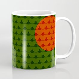 Green fisch on forrest while the sun goos up Coffee Mug