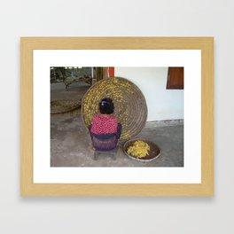 Thai Silk Weaver Framed Art Print