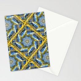 golden day kaleidoscope pattern Stationery Cards