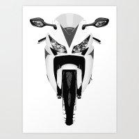 honda Art Prints featuring Honda Motorcycle by SABIRO DESIGN